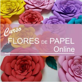 curso flores de papel decoração para o dia da mulher