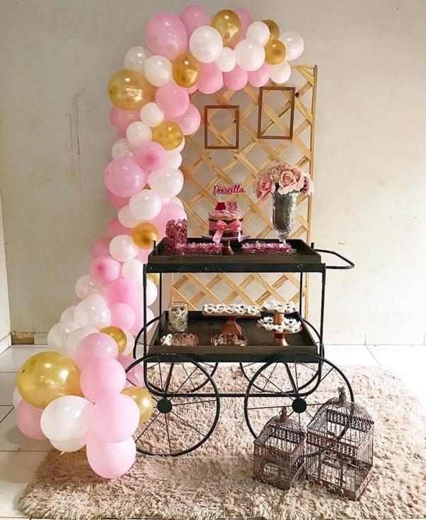 Decoração festa feminina para o Dia da Mulher