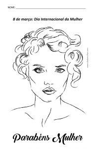 Desenho Dia da Mulher para Colorir