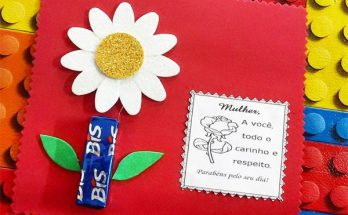 Ideias de cartão para o Dia da Mulher com chocolate e bombom
