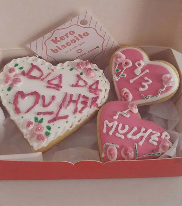 Ideias de biscoitos decorados para o Dia da Mulher