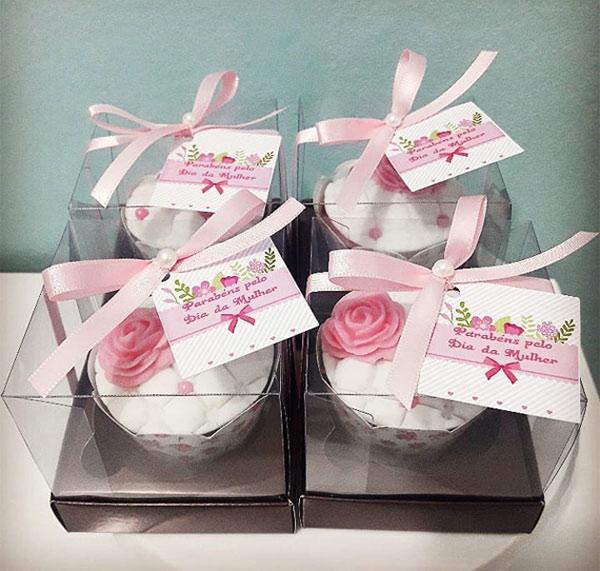 Ideias de cupcakes decorados para o Dia da Mulher