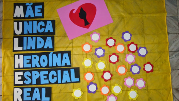 Ideias de painel ou mural decorativo para o Dia da Mulher