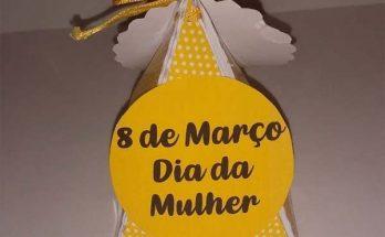 Lembrancinhas Dia da Mulher com caixinhas de papel