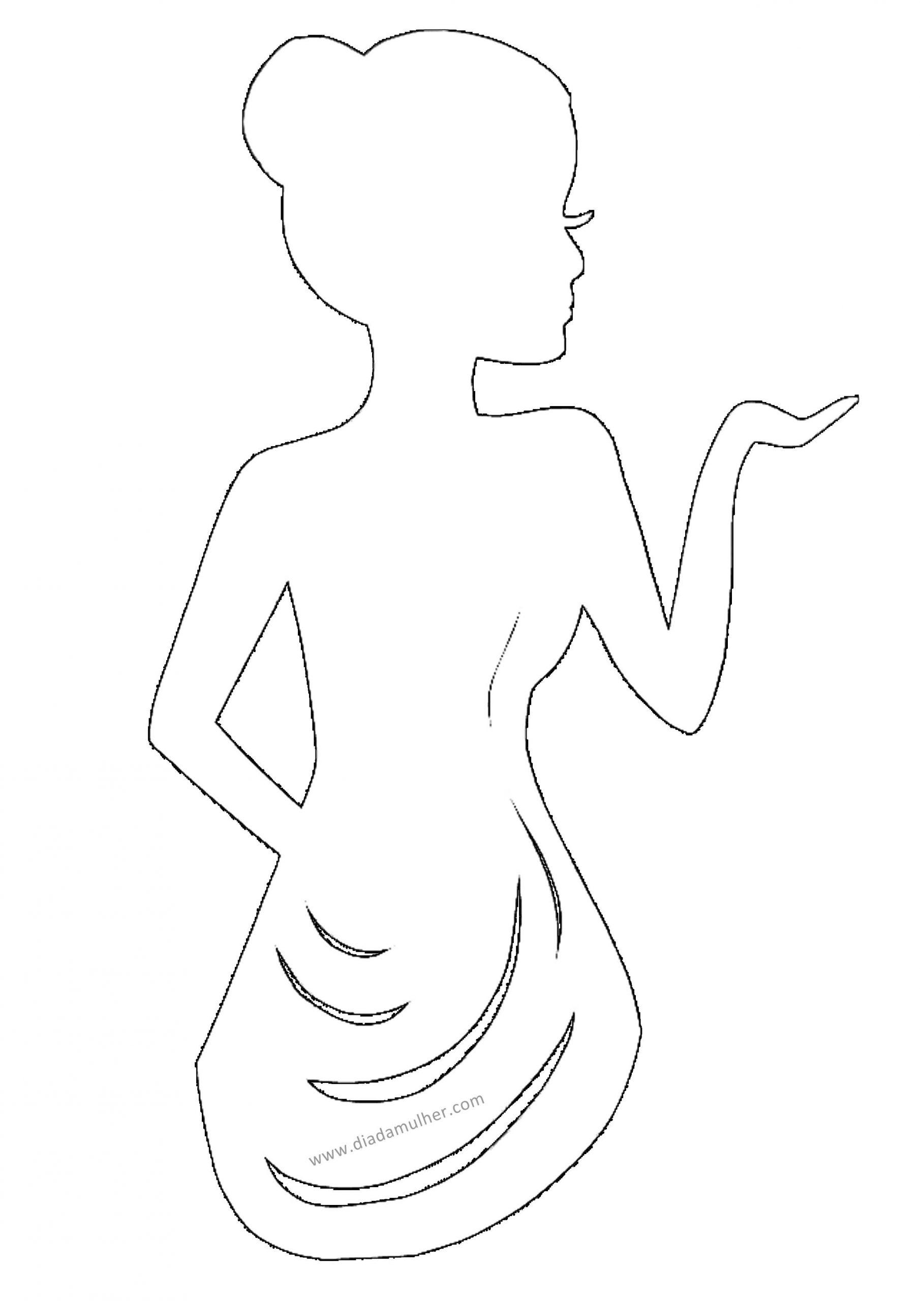 Decoração Dia da Mulher com tecidos e silhuetas femininas - moldes e riscos