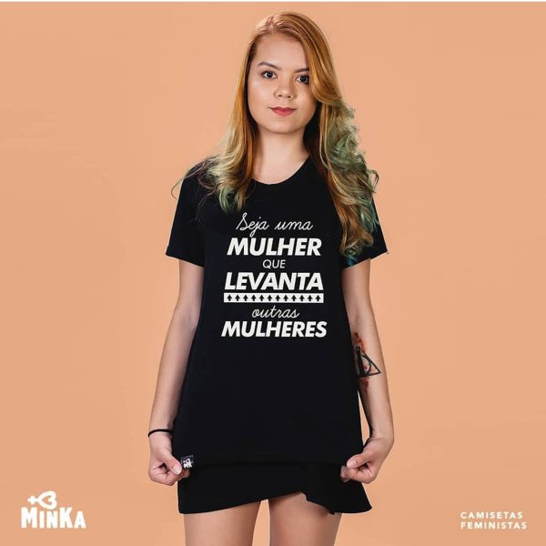 Camisetas com frases femininas para o Dia da Mulher