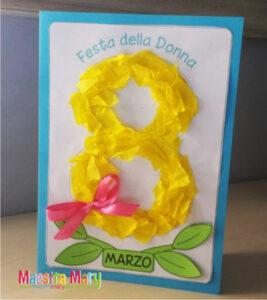 Confira neste post várias ideias de cartão Dia da Mulher com número 8 para fazer neste 8 de março.