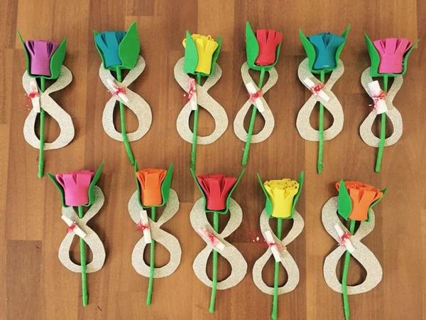 Ideias de lembrancinhas Dia da Mulher com número 8